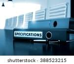 specifications. concept on... | Shutterstock . vector #388523215