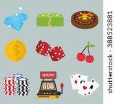 casino icon design | Shutterstock .eps vector #388523881