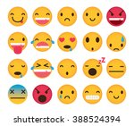 set of cute emoticons isolated... | Shutterstock .eps vector #388524394