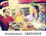friend friendship dining...   Shutterstock . vector #388540045