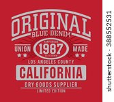denim typography  t shirt... | Shutterstock .eps vector #388552531