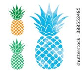 pineapple illustration ... | Shutterstock .eps vector #388553485