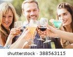 happy young friends having...   Shutterstock . vector #388563115