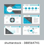 business presentation slide... | Shutterstock .eps vector #388564741