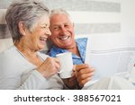 senior couple laughing while... | Shutterstock . vector #388567021