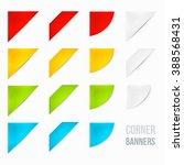 set of corner banners. 15... | Shutterstock .eps vector #388568431