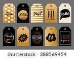 vector set of tags and labels... | Shutterstock .eps vector #388569454