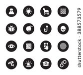 black flat security icon set on ...