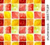 juicy fruits mosaic  watermelon ...   Shutterstock . vector #388579189