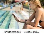 young  beautiful blond girl... | Shutterstock . vector #388581067