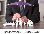 concept of insurance with... | Shutterstock . vector #388582639