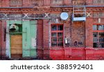 the old wall of closet factory... | Shutterstock . vector #388592401