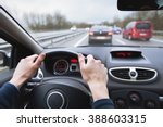 driving car on highway  close... | Shutterstock . vector #388603315
