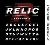 italic font. vector alphabet... | Shutterstock .eps vector #388604575