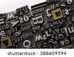 historical letter press types ... | Shutterstock . vector #388609594