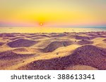beautiful beach sand and sea at ... | Shutterstock . vector #388613341