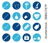 set of medical icons on color... | Shutterstock .eps vector #388617679