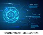 futuristic interface  hud  ... | Shutterstock .eps vector #388620721