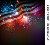 fireworks background for 4th of ... | Shutterstock . vector #388624555