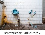 Dirty Abandoned Toilet With...