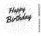 happy birthday greeting in... | Shutterstock .eps vector #388630237