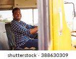 smiling school bus driver... | Shutterstock . vector #388630309