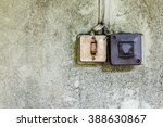 two old plastic light switches... | Shutterstock . vector #388630867