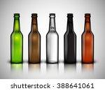 realistic beer bottle set ... | Shutterstock .eps vector #388641061