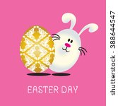 easter rabbit vector art.... | Shutterstock .eps vector #388644547