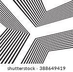 black and white mobious wave... | Shutterstock .eps vector #388649419