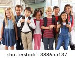 group portrait of elementary... | Shutterstock . vector #388655137