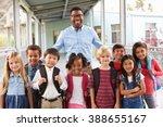 portrait of elementary school... | Shutterstock . vector #388655167