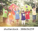 kids children playing happiness ... | Shutterstock . vector #388656259