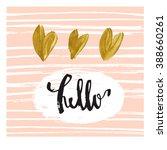 hello. modern greeting card... | Shutterstock .eps vector #388660261