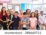 elementary school teacher and... | Shutterstock . vector #388660711