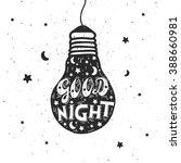 Good Night Letter. Hand Drawn...