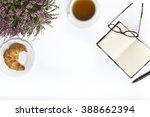 tea  croissant   glasses  ...   Shutterstock . vector #388662394