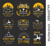 set of breakdance bboy... | Shutterstock .eps vector #388668799