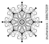 mandala round ornament  circled ...   Shutterstock .eps vector #388670209