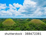 chocolate hills natural... | Shutterstock . vector #388672381