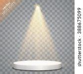 Vector Spotlight With Podium....