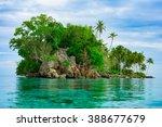 remote desert tropical island ... | Shutterstock . vector #388677679