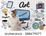art artistry creative gallery... | Shutterstock . vector #388679077