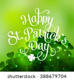 happy saint patricks day... | Shutterstock . vector #388679704