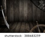 Pirates Ship Background With...