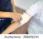 first aid bleeding tourniquet | Shutterstock . vector #388698154