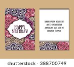 greeting cards set with... | Shutterstock .eps vector #388700749