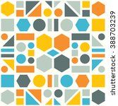 colorful pattern of geometric... | Shutterstock .eps vector #388703239