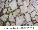Cobblestone With Grass Texture...