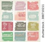 premium quality retro vintage... | Shutterstock .eps vector #388710211